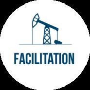 Facilitation header with oil icon