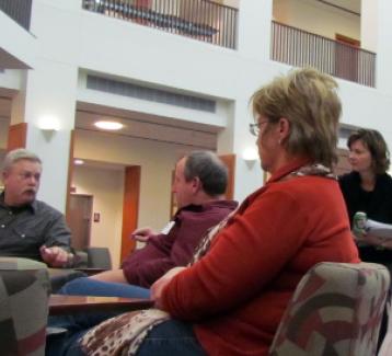 Jessica Western facilitating a collaborative problem solving group