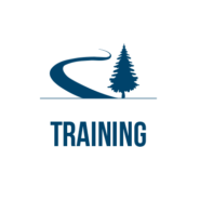 Training with tree and path icon